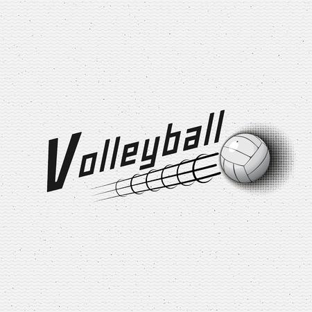 Insignes de volley-ball logos et étiquettes peuvent être utilisées pour la conception, présentations, brochures, prospectus, impression, matériel de sport, l'identité de l'entreprise, les ventes Banque d'images - 44123903