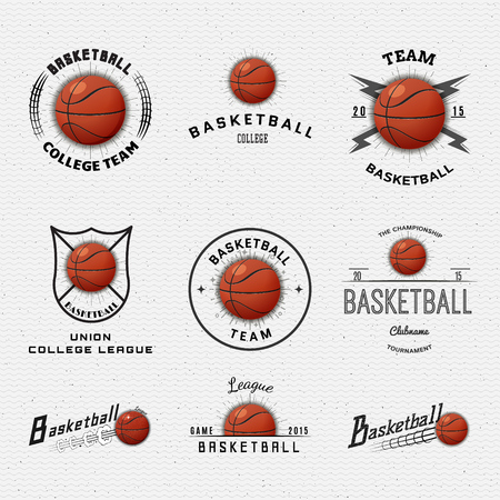Basketball badges logos and labels can be used for design, presentations, brochures, flyers, sports equipment, corporate identity, sales