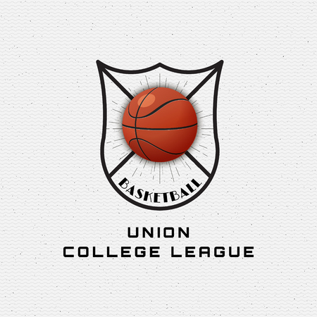 be the identity: Basketball badges logos and labels can be used for design, presentations, brochures, flyers, sports equipment, corporate identity, sales