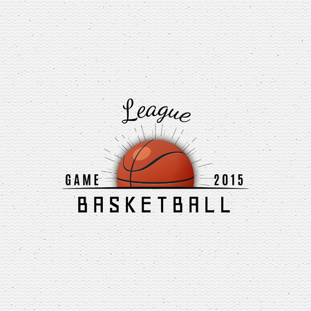 be the identity: Basketball badges and labels can be used for design, presentations, brochures, flyers, sports equipment, corporate identity, sales