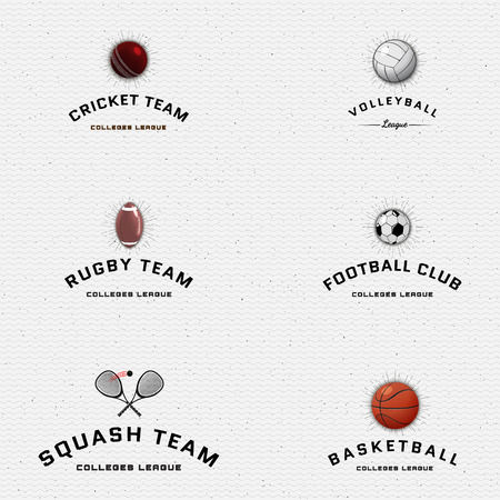 be the identity: Sports teams badges and labels can be used for design, presentations, brochures, flyers, sports equipment, corporate identity, sales