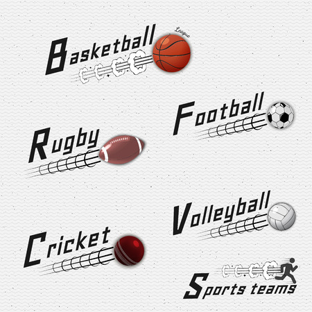 be the identity: Sports teams badges logos and labels can be used for design, presentations, brochures, flyers, sports equipment, corporate identity, sales
