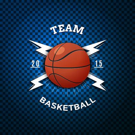 Insignes de basket-ball logos et étiquettes peuvent être utilisées pour la conception, présentations, brochures, dépliants, matériel de sport, l'identité de l'entreprise, les ventes Banque d'images - 45362068