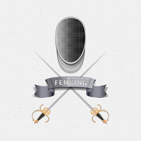 rapier: Fencing badges   labels can be used to fashion design, signs for sports clubs, sales