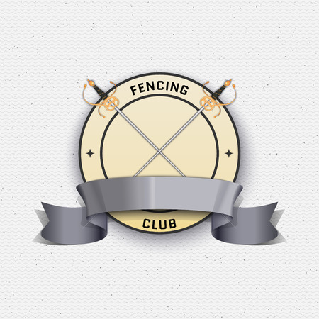 swordsmanship: Fencing badges labels can be used to fashion design, signs for sports clubs, sales Illustration