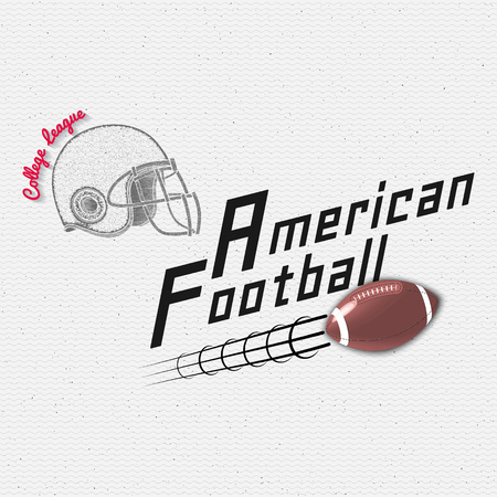 porrista: American Football badges logos and labels It can be used to design prints on clothes Vectores