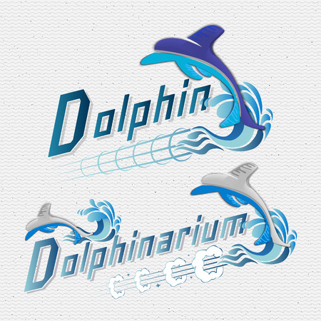 fish type: Dolphin badges logos and labels It can be used for product design, team name, and clubs Illustration