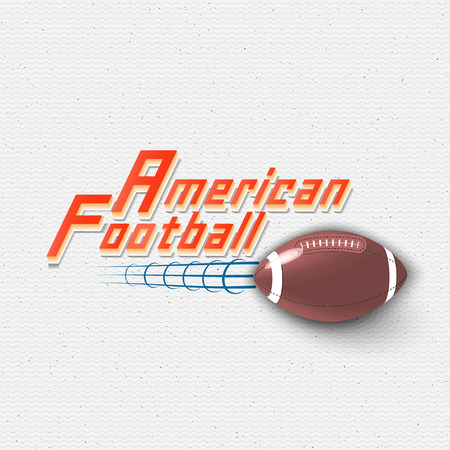 american vintage: American Football badges logos and labels It can be used to design prints on clothes Illustration
