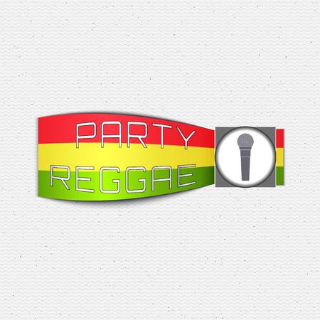 reggae: Reggae insignes et étiquettes parti peuvent être utilisés pour la conception, invitations, flyers, bannières du site