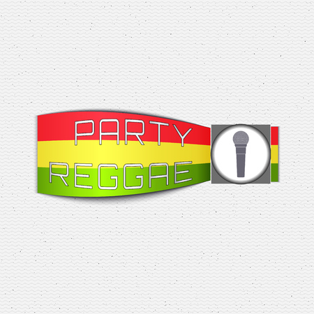 reggae: Reggae party insignia  and labels can be used for design, invitations, flyers, banners Site