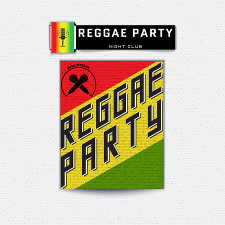 jah: Reggae party insignia  and labels can be used for design, invitations, flyers, banners Site