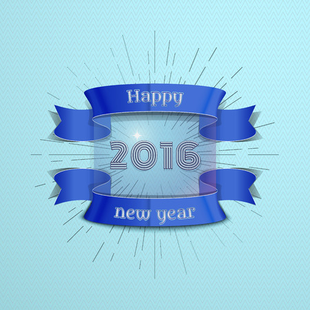 happy new year banner: Happy New Year 2016 emblem, banner, badge, can be used as part of the design of sales, in the printing, on websites