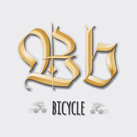 bb: Letter Bb sticker, insignia It can be used for branding of products and as a letter of the alphabet Illustration