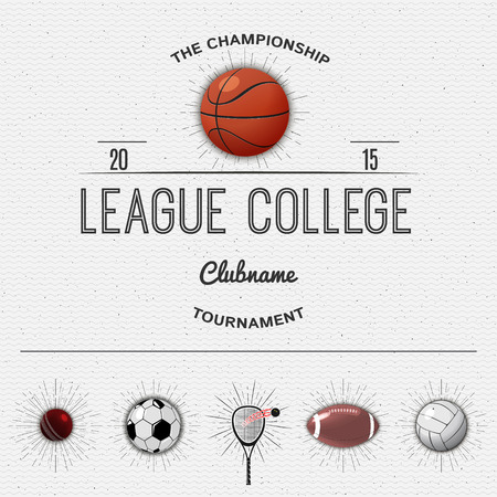 league: League college insignia and labels