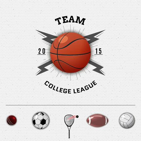 squash: League college insignia and labels