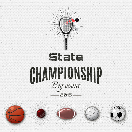 soccer: State championship insignia and labels Illustration