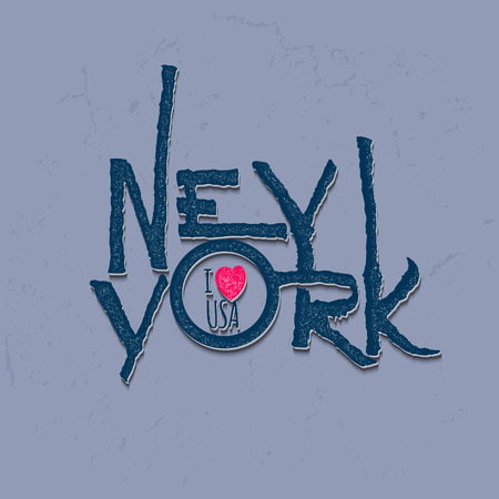 jersey city: Vintage Hand lettered textured New York city t shirt apparel fashion print It can also be used as a badge, sticker, label, identity, insignia in Hashem design