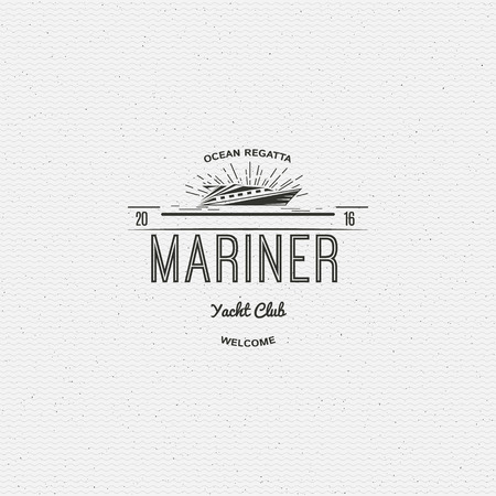 barque: Yacht club badges logos and labels for any use, on a white background
