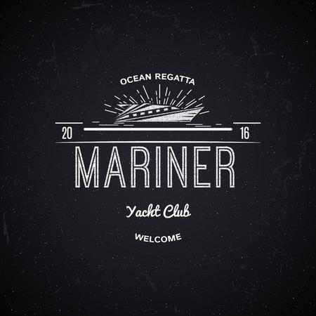 logotipo turismo: Yacht club insignias logotipos y etiquetas para cualquier uso, sobre un fondo blanco
