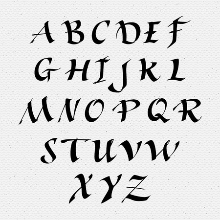 classic style: Ruling pen script lettering font, handwritten calligraphic alphabet, It can be used for your design