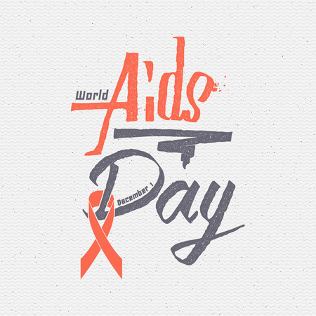 World Aids Day insignia  and labels It can be used to design websites magazines, infographics, advertising Illustration