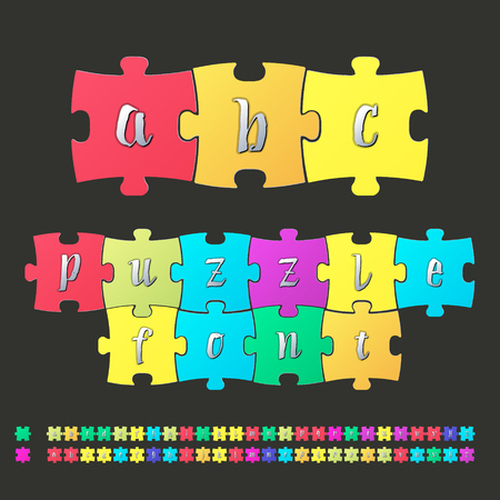 compilation: Colored alphabet puzzle It can be used for the compilation of words and sentences