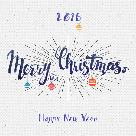 christmas elements: Merry christmas  and happy new year 2016 insignia  and labels for any use