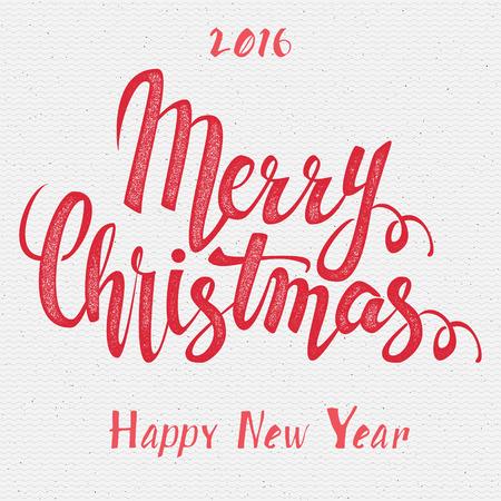 Frohe Weihnachten und glückliches neues Jahr 2016 Abzeichen und Etiketten für jeden Einsatz Standard-Bild - 48713464