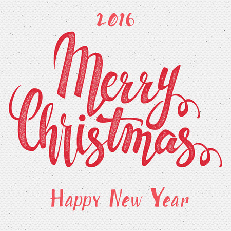 traditional christmas: Merry christmas  and happy new year 2016 insignia  and labels for any use