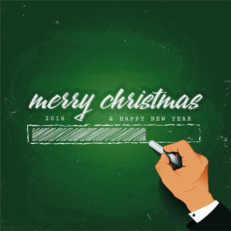 hand writing: Merry Christmas Loading Hand writing with chalk on a blackboardIt can be used for the design of sites cards and other products