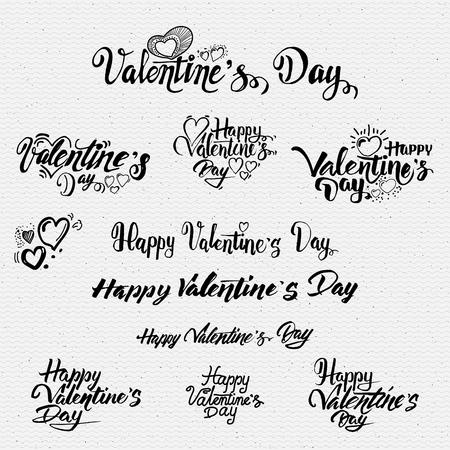 Happy valentines opciones de letras días Puede ser utilizado para el diseño de tarjetas de felicitación Foto de archivo - 49109548