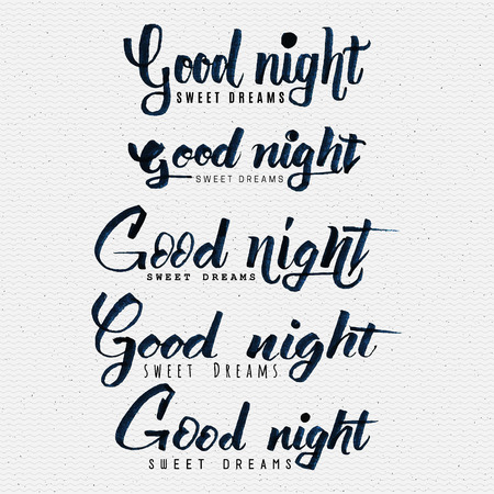sleepover: Good night sweet dreams hand lettering You can use postcards