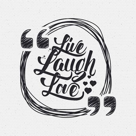 carta de amor: Amor de la risa cita letras Mano vivo Se puede utilizar como el diseño de la tarjeta de felicitación, carteles, impresión o sello