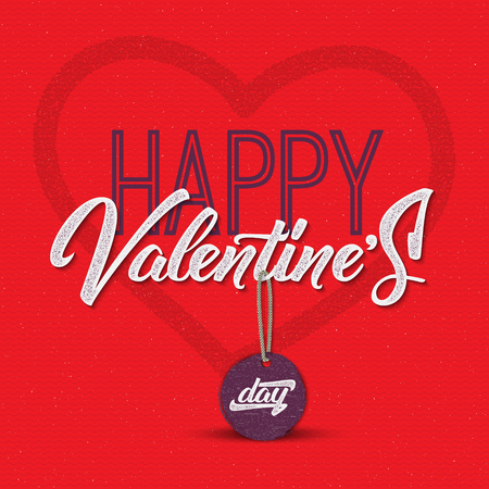symbol decorative: Valentines day - calligraphy typography greeting It can be used for postcards, posters
