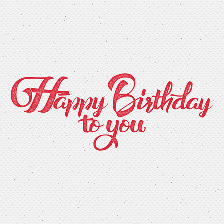 Happy Birthday calligraphy art It can be used to design greeting cards, magazines, posters, invitations Stok Fotoğraf - 49923074