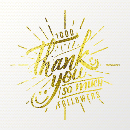 Thank you so much - tCalligraphic phrase written in gold It can be used to design greeting cards, magazines, posters