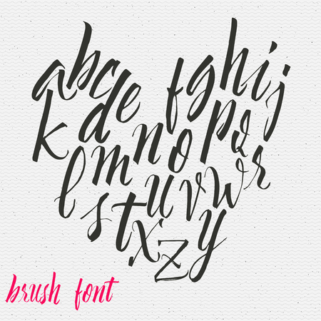 Hand drawn font handwriting brush It can be used to design logos, badges, labels, postcards, posters Illustration