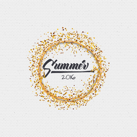 Summer icon is made with the help of lettering and calligraphy skills, use the right typography and composition.  イラスト・ベクター素材