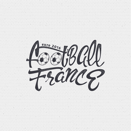 footbal: Footbal 2016- insignia is made with the help of lettering and calligraphy skills, use the right typography and composition.