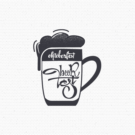 accordance: Beer Fest - Badge drawn by hand, using the skills of calligraphy and lettering, collected in accordance with the rules of typography Illustration
