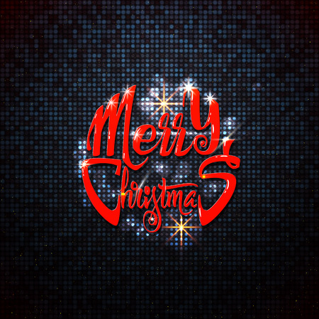 new rules: Merry christmas and happy new year 2017 hand-lettering text . Badge drawn by hand, using the skills of calligraphy and lettering, collected in accordance with the rules of typography.