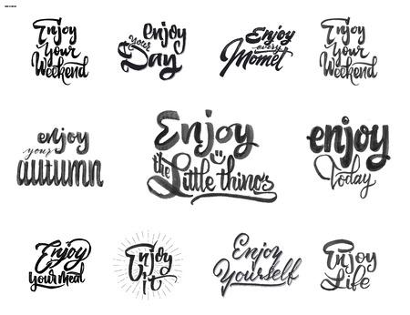 Genießen. Trace geschrieben von Stift Pinsel für Ihr Design