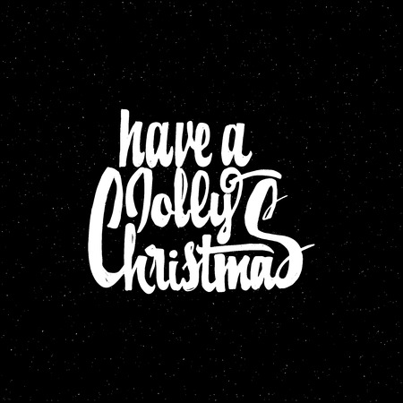 accordance: Have a jolly christmas hand-lettering text . Badge drawn by hand, using the skills of calligraphy and lettering, collected in accordance with the rules of typography.