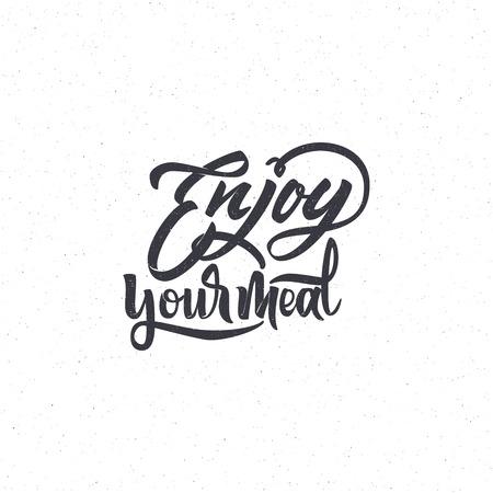 Guten Appetit . Trace geschrieben von Stift Pinsel für Design. Positive Ausdruck kann als Druck, Stempel, Banner oder Label, Corporate Identity verwendet werden
