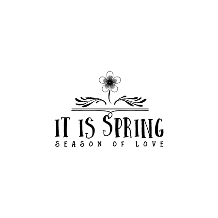 Badge set for small businesses - Spring. The pattern printing plate handmade works written by hand font. It can be used in a corporate style, prints, for your design
