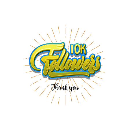 subscriber: Thank you 10000 followers poster. You can use social networking. Web user celebrates a large number of subscribers or followers.