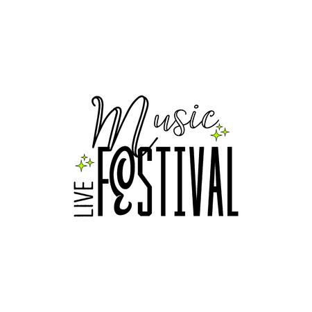 letting: Typographic badges - music Festival. On the basis of script fonts, handmade. Illustration