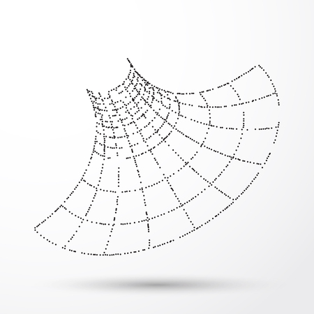 Technology background. Abstract 3d Funnel. Futuristic Technology Style.