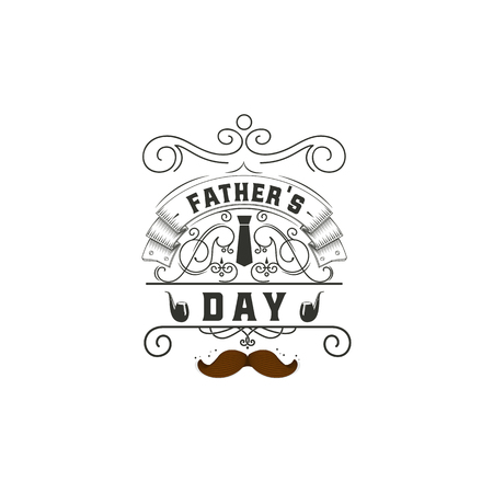 Father s Day - Handmade template. Isolated vector object logo is a badge for your design Illustration