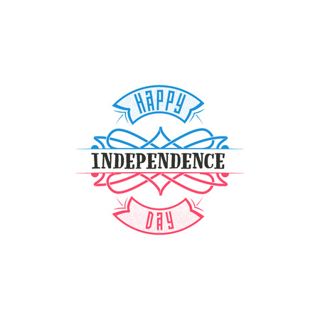 united stated: Fourth of July, United Stated independence day - Handmade template. Isolated vector object logo is a badge for your design. Illustration